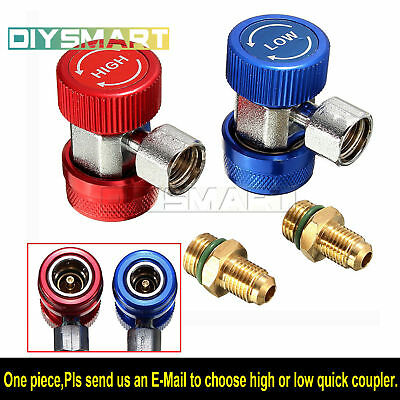 R134A A/C Air Condition Quick Coupler Adapter High Low Manifold Gas AU