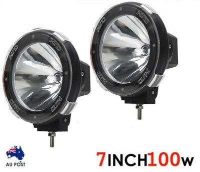 "Pair 7"" inch 100W SPOT HID Driving Lights Xenon Spotlights Off Road 4x4 Work"