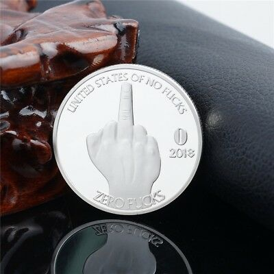 New 2019 Silver U.S. of No Zero Middle Finger Commemorative Coin Collection