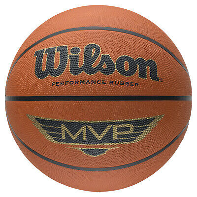 Wilson MVP Traditional Series Heritage Game Basketball Outdoor Ball Size 5 ,6, 7