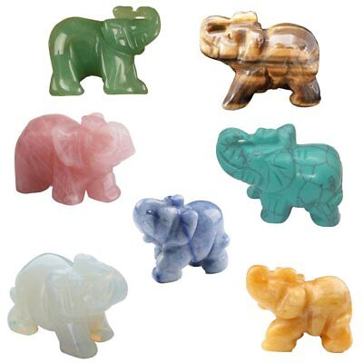 Natural Jade Elephant Ornaments Hand-carved Stone Elephant Crafts F2