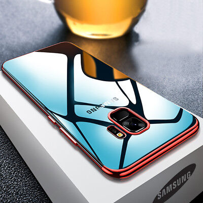 For Samsung Galaxy A6 A8 Plus 2018 Plating Soft Silicone Hybrid Clear Case Cover