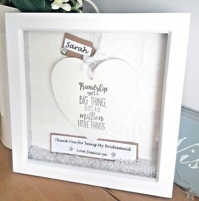 PERSONALISED FRIENDSHIP BOX Frame Gift 21st 30th 40th 50th Birthday ...
