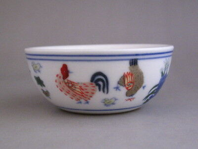 lovely Chinese Dou-cai Porcelain Chicken Teacup /tea cup