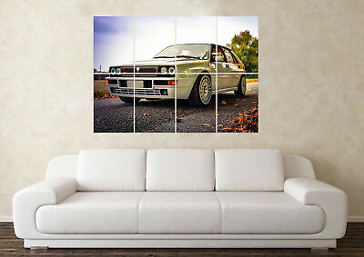 Large Lancia Delta Integrale Rally Car Sport Hatch Wall Poster Art Picture Print