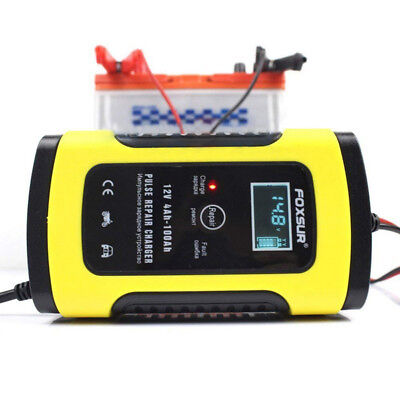 12V 5-6A Max Automotive Trickle Battery Charger Maintainer For Car Motorcycle
