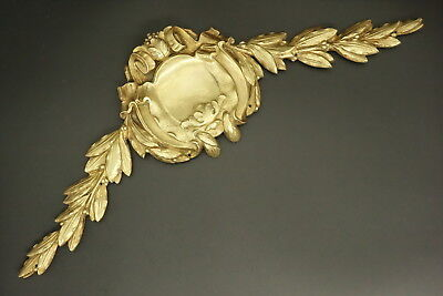 Large Pediment Stamped, Louis Xv Style, Early 1900 - Bronze - French Antique