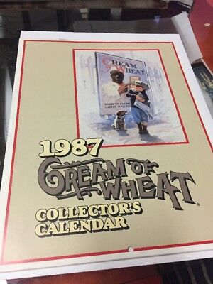 1987 Cream Of Wheat Collectors Calendar Advertising Promo Great Artwork