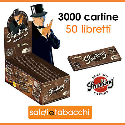 3000 cartine Smoking Brown corte - 50 libretti da 60 foglietti