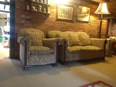 edwardian 3 seater sofa and matching armchair