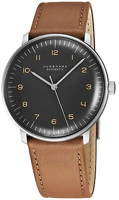 Junghans Men's MaxBill Automatic Grey Dial Strap Self-Winding Watch 027/3401.00