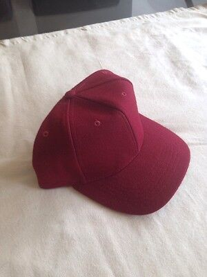Baseball Cap Maroon Snap 300 Adjustable Size Quality Summer Sport hat Men Women