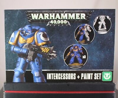 Warhammer 40.000/40K Space Marines Intercessors + Paint Games Workshop,2017 Neu