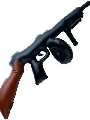 Gangster Mob Inflatable Blow Up TOMMY GUN Fancy Dress Accessory Prop Machine Toy