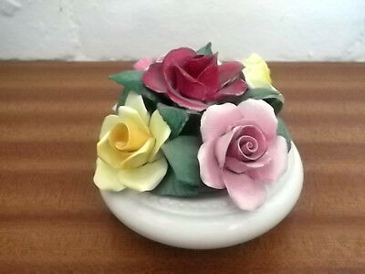 Crown Staffordshire  Round Footed Bowl Of Five China Roses