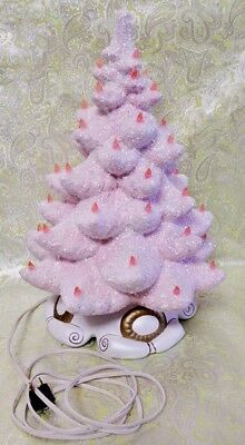 """Pink Christmas Tree, Pink Ceramic Tree, Atlantic Mold 22"""" tall Reserved for Bill"""