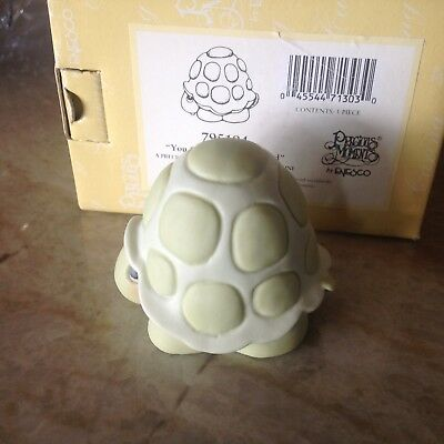 """Rare 2000 Precious Moments Turtle Figurine """"You Can't Hide From God"""" #795294 NIB"""