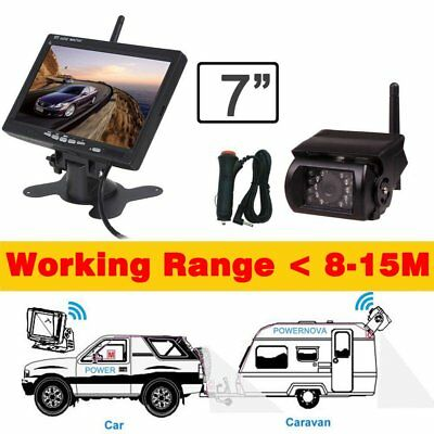 """For Vauxhall Wireless 7"""" Monitor LED+IR+CCD Camera Reverse Parking Kit Bus Truck"""
