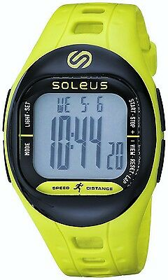 Soleus Tempo Unisex Fitness Monitor Watch NEW SF001 Lime Green Digital Running