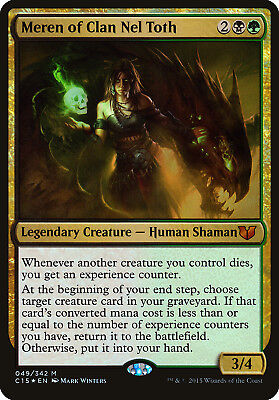 Scourge of Nel Toth Commander 2015 NM-M Black Rare MAGIC GATHERING CARD ABUGames