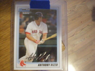 2010 Bowman Sterling Prospects #BSP-AR Anthony Rizzo Boston Red Sox Rookie Card