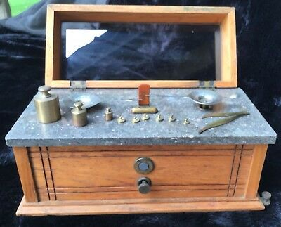 Antique Henry Troemner Apothecary Scale with Brass Weights - Beautiful Condition