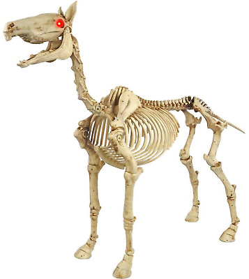 HOME ACCENTS HOLIDAY 40 Halloween Standing Skeleton Horse LED Eyes Impressive Home Accents Halloween Decorations