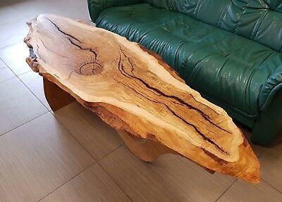 Stunning Epoxy Resin River Coffee Table Trunk Chest Yew