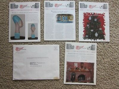 Lot of 5 Red Wing Collectors Newsletters, Oct + Nov 2000, Feb + April 2001 + 1