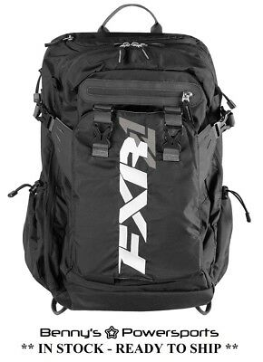FXR Ride Pack Black OPS Backpack Riding Bag w Shovel Holder Cargo Pockets & More