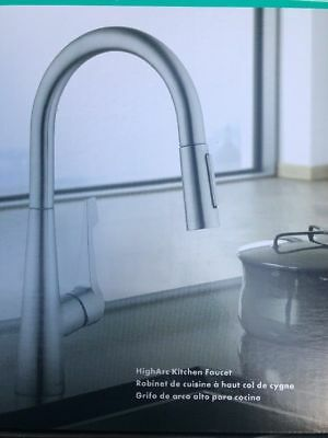 Hansgrohe Talis M Pull Down Kitchen Faucet 2 Function Spray Steel Optik New 139 99 Picclick