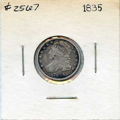 1835 10C Capped Bust Silver Dime. Circulated. Lot #2288