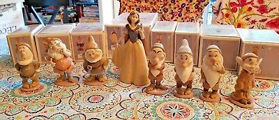 LLADRO Snow White and the 7 Dwarfs Collection Retired w/boxes 07555 07533-07539