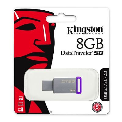 Clé Kingston DataTraveler 50 clef 8 Gb 8 Go USB flash DT50/ 8GB 8GO USB 3.1