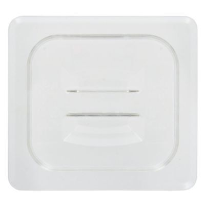 Cambro Camwear� 1/6 Size Clear Polycarbonate Flat Food Pan Lid with Handle