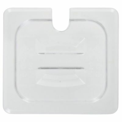 Cambro Camwear� 1/6 Size Clear Polycarbonate Notched Food Pan Lid with Handle
