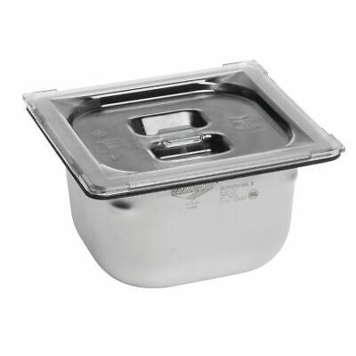 Vollrath Super Pan�  Cold Food Pan Lid 1/6 Size Clear Polycarbonate Solid