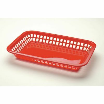 TableCraft Products C1077R Large Food Basket, Red, 36 Per Case
