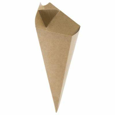 """Packnwood Kraft Paper Fry Cone With Sauce Cup - 5 1/4""""W x 8 3/4""""H"""