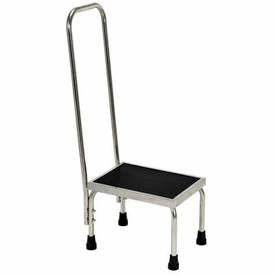 "Vestil Stainless Steel Step Stool with Handle - 15""L x 11""W x 37""H"