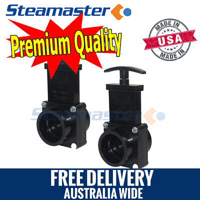 Carpet Extractor Hose Couplers 2 x Gate Valve/Dump Valve for Extractor Machines
