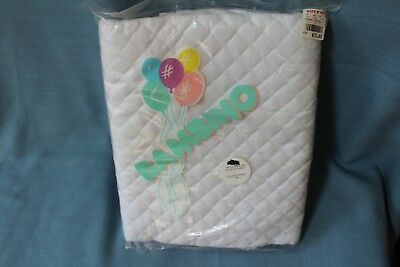 Bambino 100% Cotton Quilted Mattress Pad Fitted Crib 27x52x9 New in package
