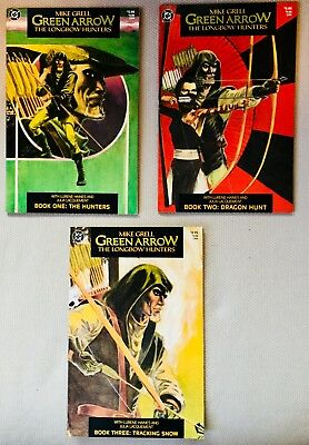 DC Comics (1987) Green Arrow- The Longbow Hunters Limited Series Books 1-3 NM