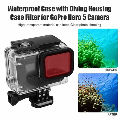Waterproof Case with Diving Housing Case Filter for GoPro Hero 5 Camera Case UK-