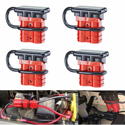 4Pcs Battery Quick Connect Kit -50A Wire Harness Plug Disconnect Winch Trailer F