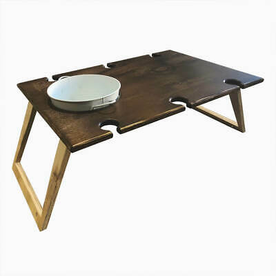 PORTABLE Picnic Table | Wooden Wine Table | XL BANQUET Chocolate Brown