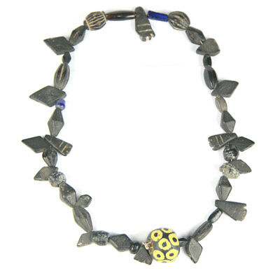 A Roman-Egyptian glass and stone bead necklace y2726