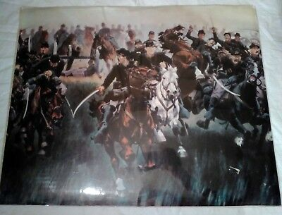 Civil War Print Large 16 Inches By 20 Inches Vintage Sealed Battle Historic