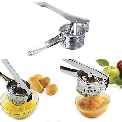 Stainless Steel Potato Ricer Handheld Masher Juicer 27*9.2*10.2cm Kitchen Tool;-