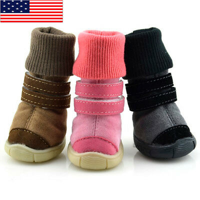 US Dog Winter Warm Boots Puppy Pet Anti-slip Shoes Sneakers Protective Booties